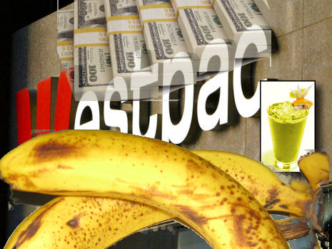 Westpac Bank and banana Smoothie